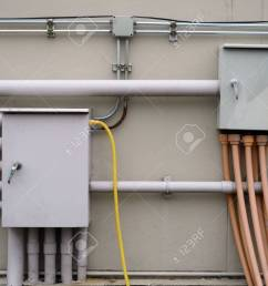 electrical junction box with galvanized conduit pipe connection metal conduit for electrical wiring [ 1300 x 975 Pixel ]
