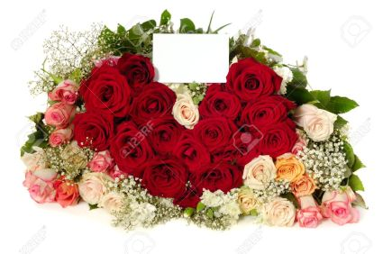 Image result for card and the bouquet of flowers