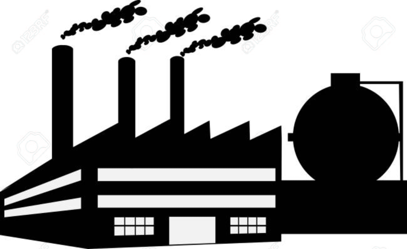 silhouette factory vector illustration