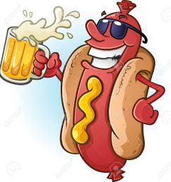 hot dog cartoon wearing sunglasses and drinking cold beer stock vector 20992154 [ 1238 x 1300 Pixel ]