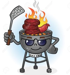 barbecue grill cartoon character with attitude stock vector 29305603 [ 1198 x 1300 Pixel ]