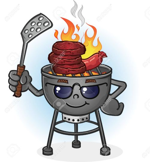 small resolution of barbecue grill cartoon character with attitude stock vector 29305603