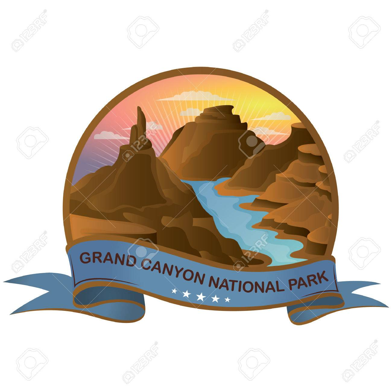 hight resolution of grand canyon national park stock vector 51366515