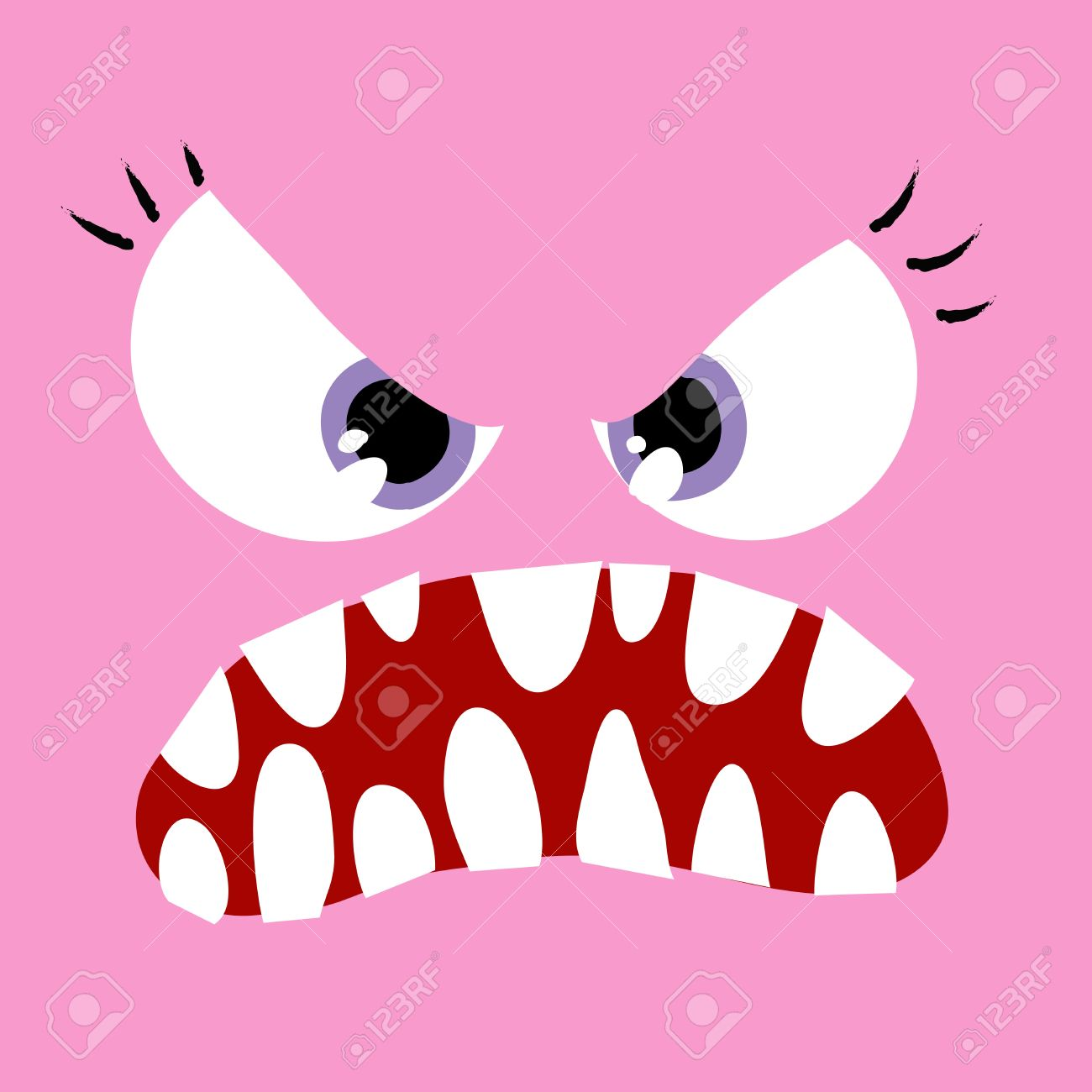 a angry girl monster