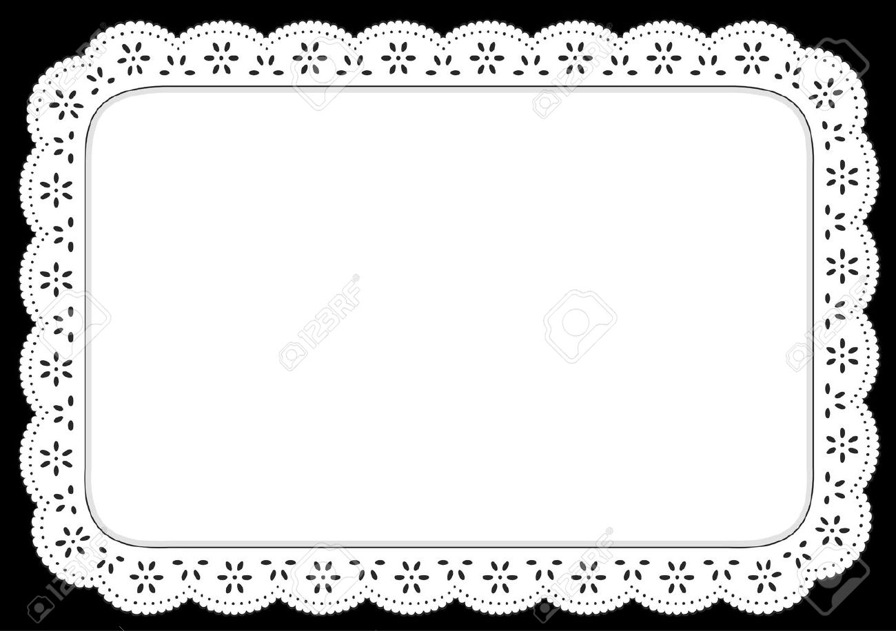 placemat white eyelet lace