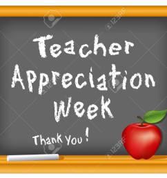 teacher appreciation week national holiday stock vector 14455385 [ 1300 x 1011 Pixel ]