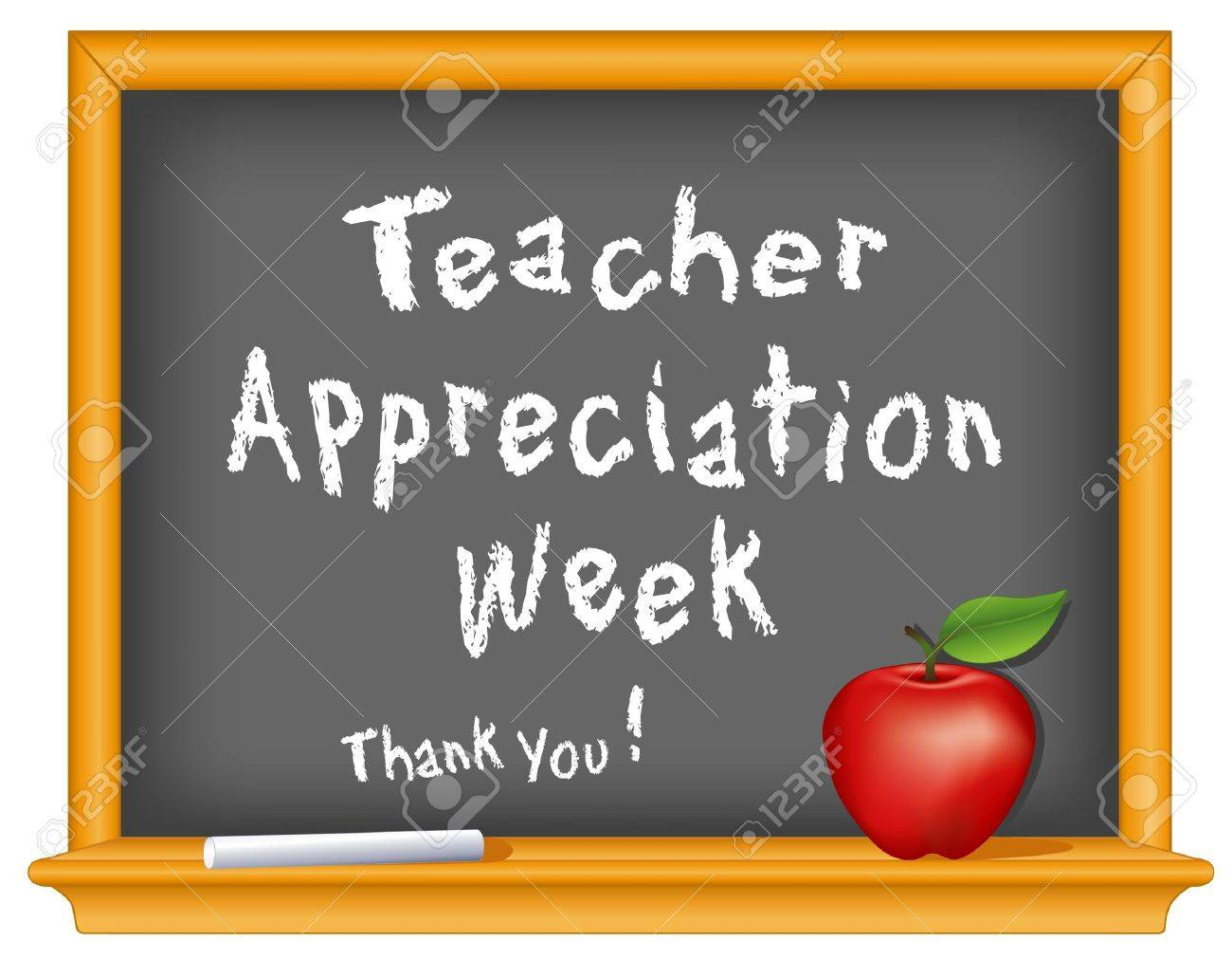 hight resolution of teacher appreciation week national holiday stock vector 14455385