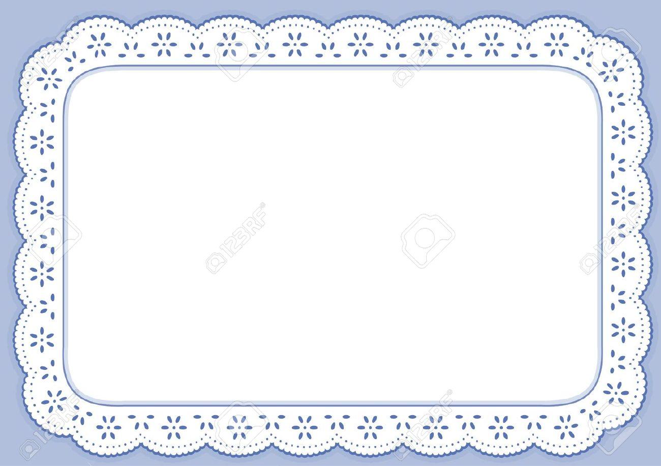 placemat pastel blue eyelet