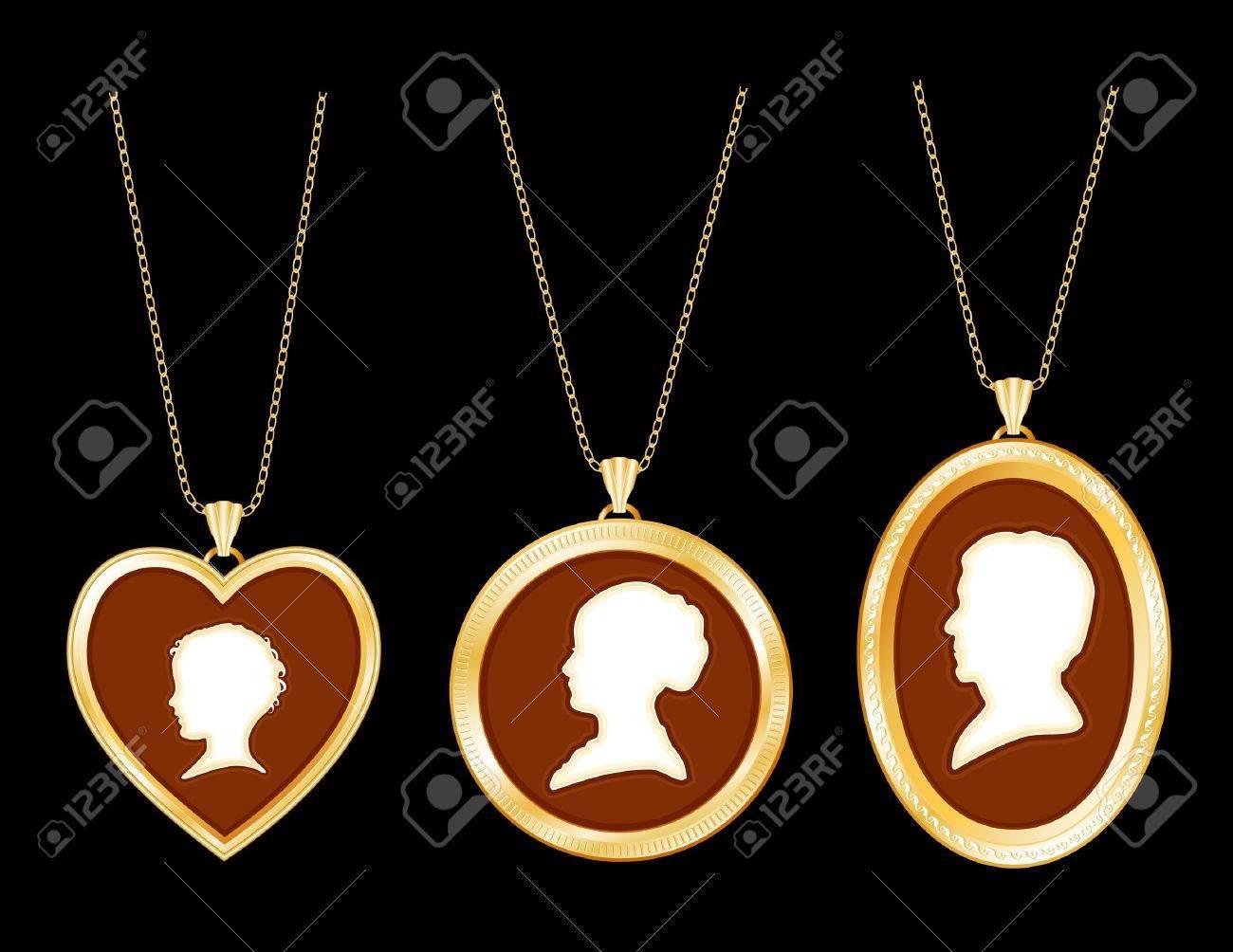 cameo family antique gold