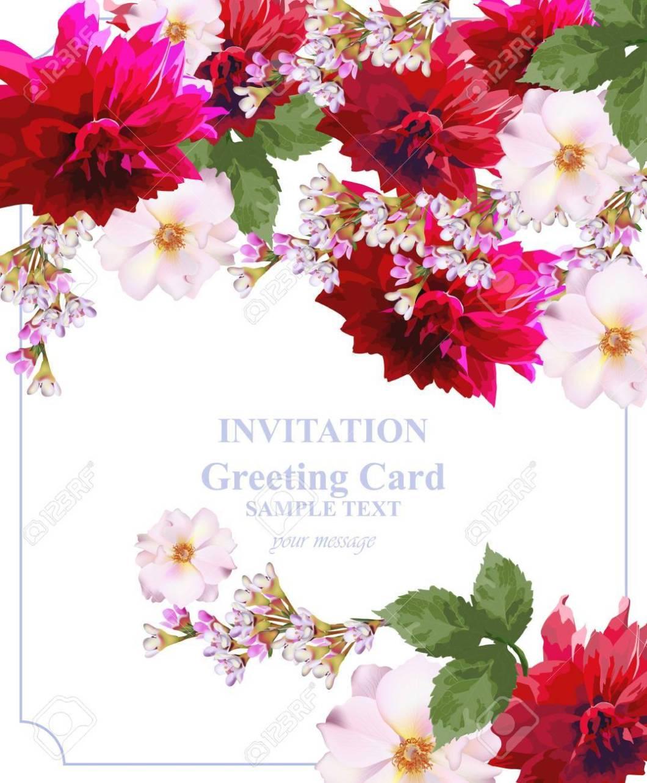 Beautiful Flowers Invitation Cards   Rezzasite.co
