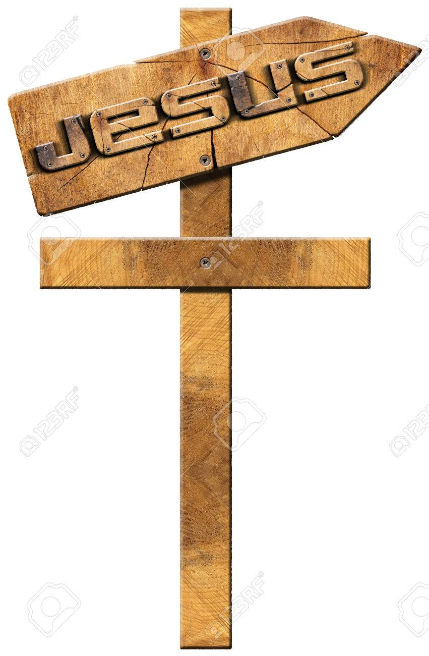 wooden directional sign in