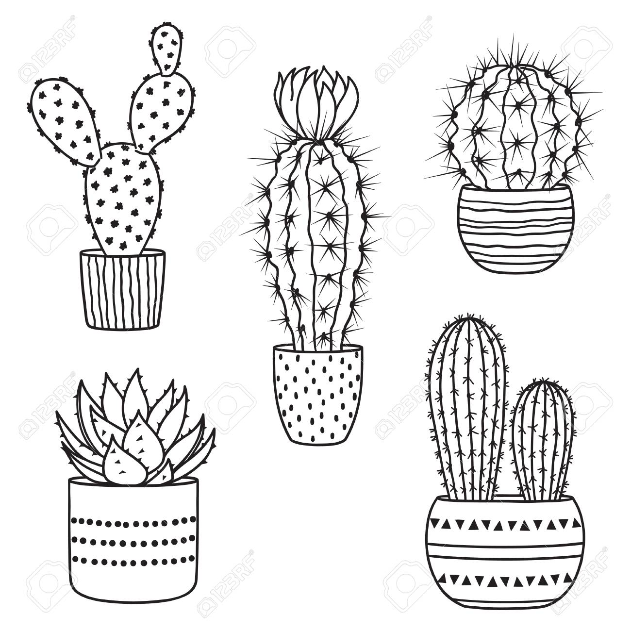 set of hand drawn