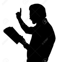 preacher reading from bible with raised finger stock vector 12480096 [ 1075 x 1300 Pixel ]