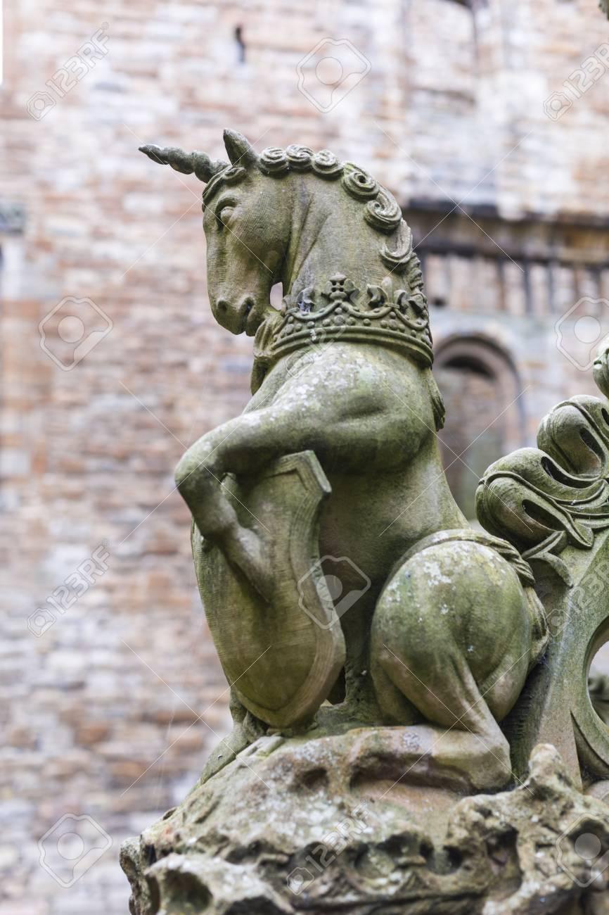 scottish unicorn sculpture as