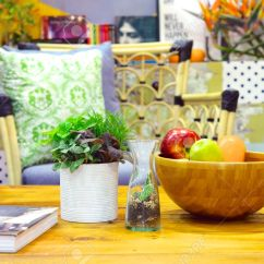 Artificial Plants For Living Room Photos Of Small Modern Rooms Decor With Cactus Fruit Bowl And Book Home