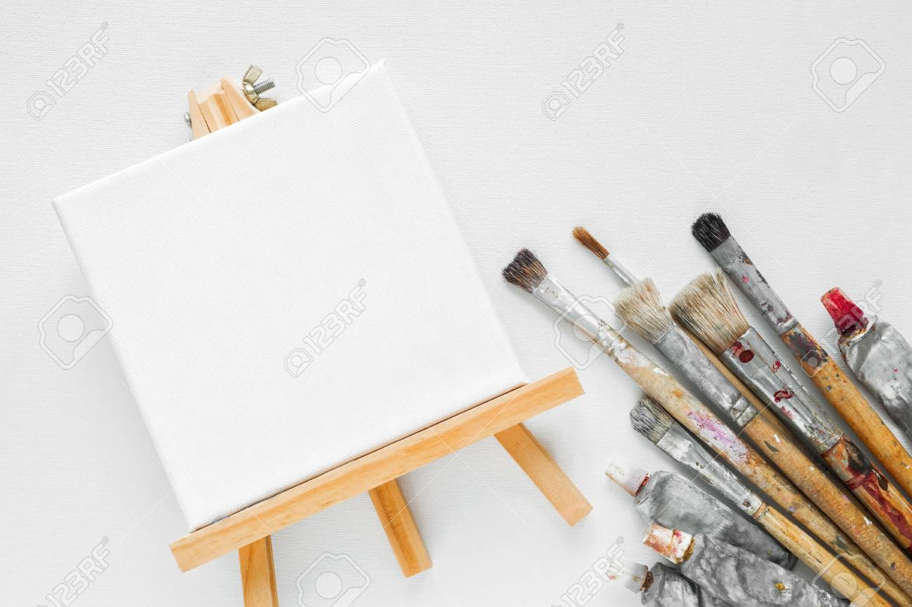 canvas on easel paint