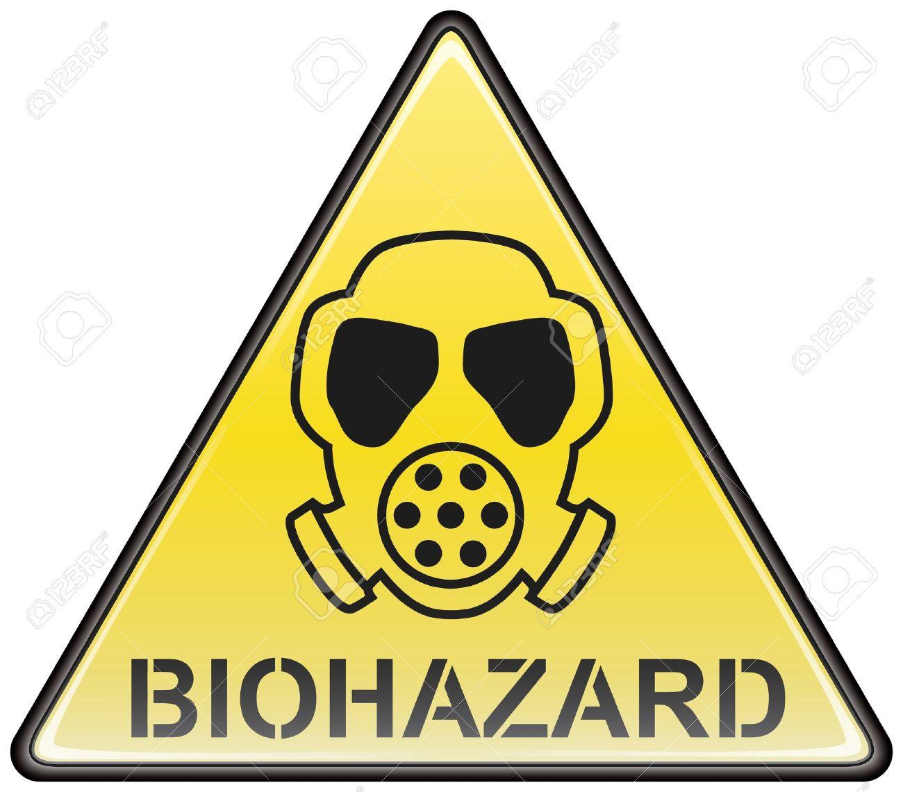 biohazard gas mask vector