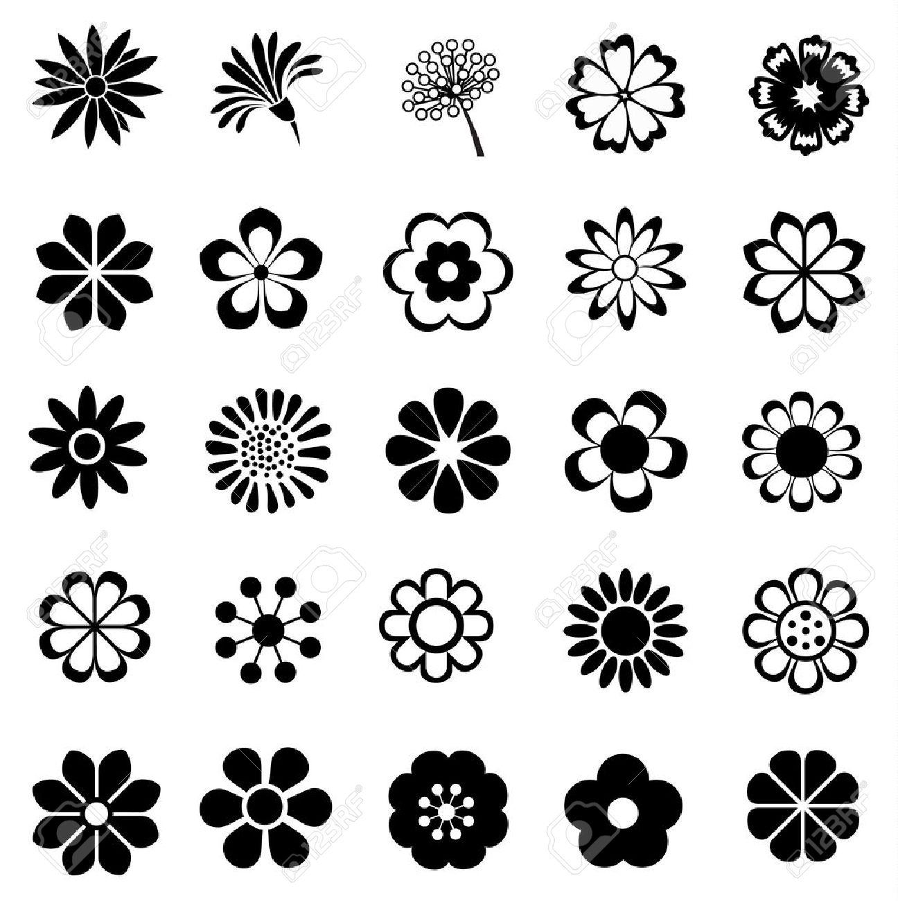 flower vector set flowers