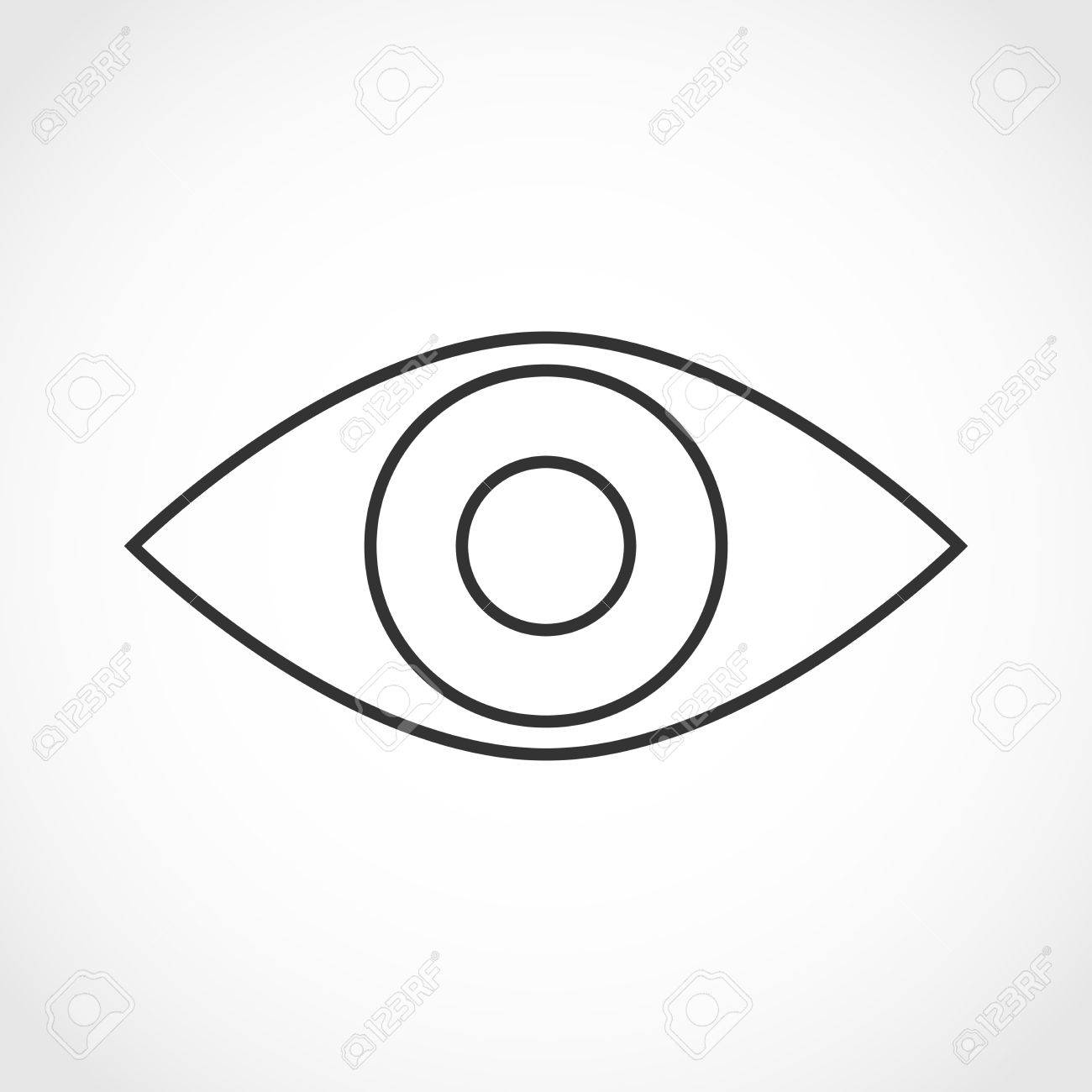 simple human eye diagram daisy 880 parts contour of the on white background icon vector illustration