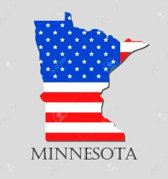 map of the state of minnesota and american flag illustration america flag map vector [ 1300 x 1300 Pixel ]