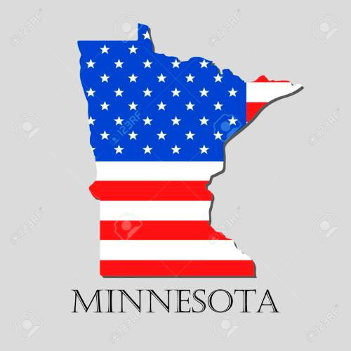 small resolution of map of the state of minnesota and american flag illustration america flag map vector