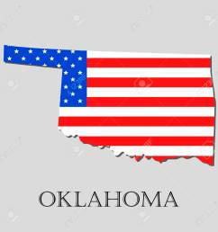 map of the state of oklahoma and american flag illustration america flag map vector [ 1300 x 1300 Pixel ]