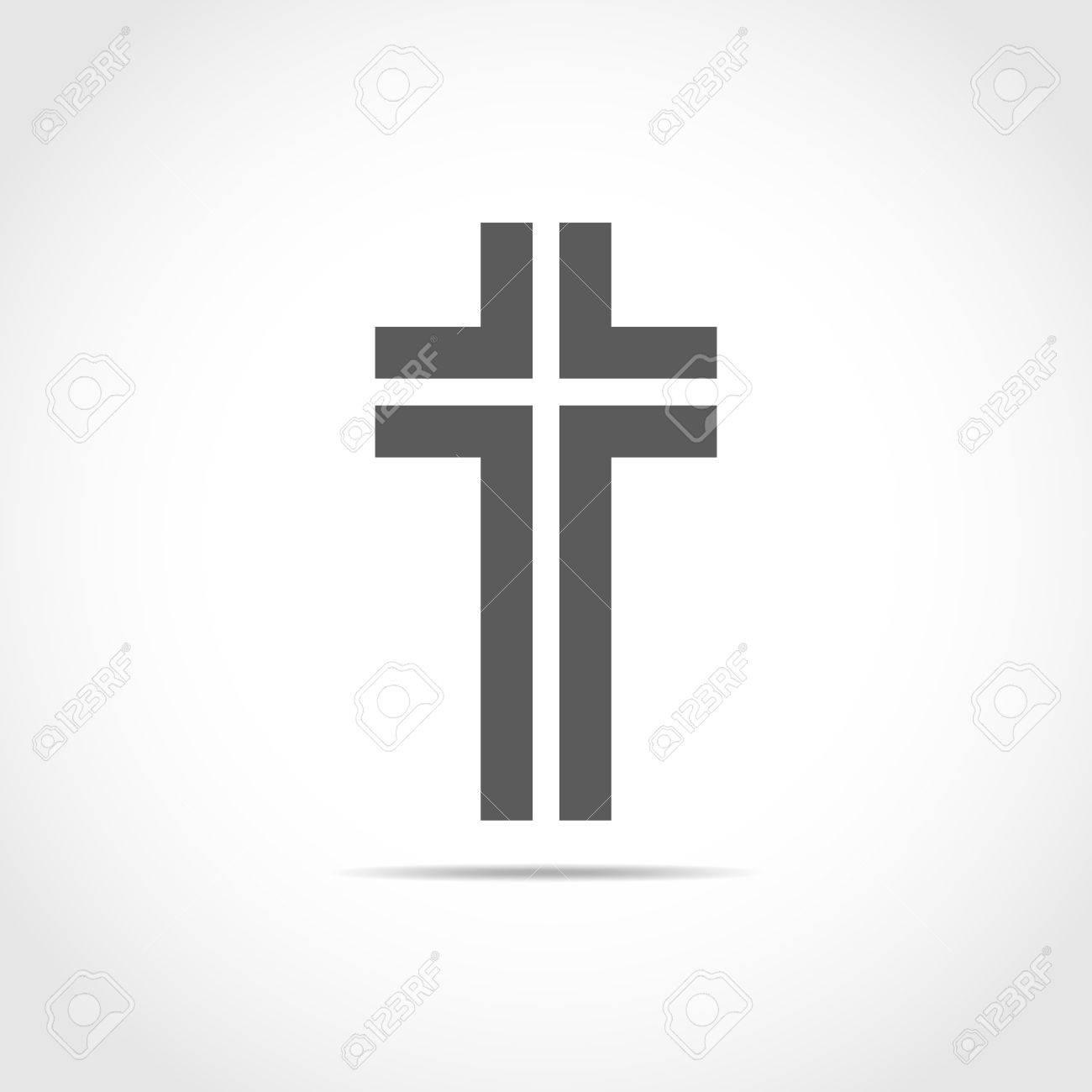 gray christian cross icon