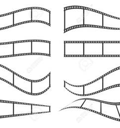 set of film frame icons in flat design vector illustration film strip icon  [ 1300 x 945 Pixel ]