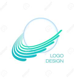 blue planet creative globe logo concept uranus vector template stock vector 86198422 [ 1300 x 1300 Pixel ]