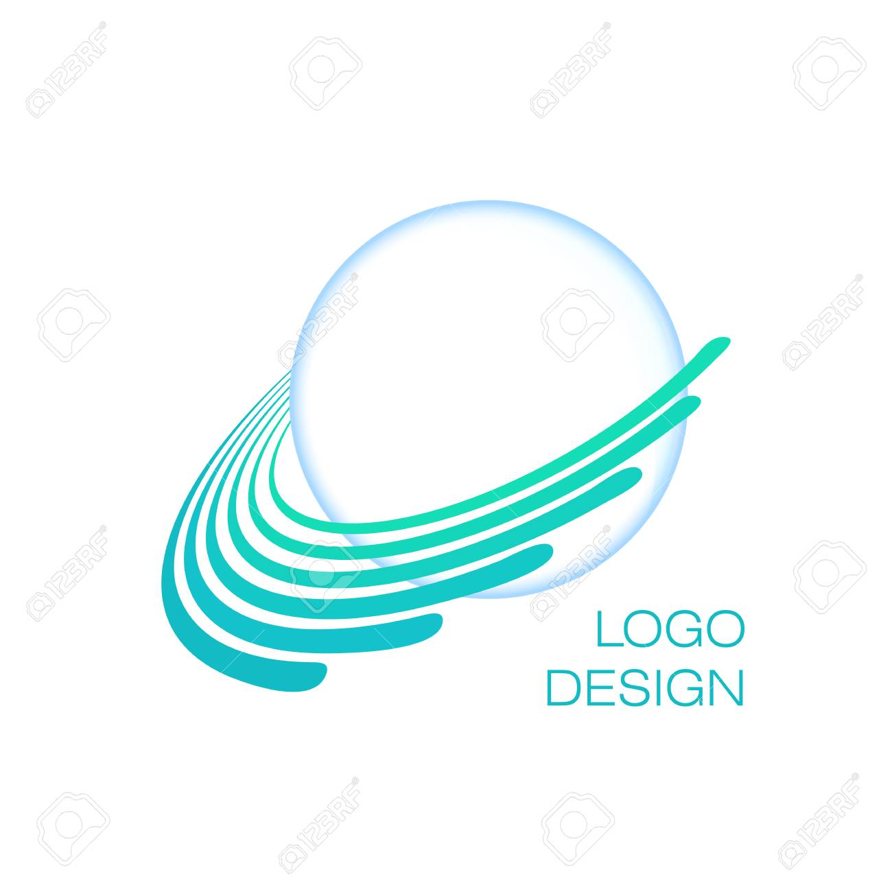 hight resolution of blue planet creative globe logo concept uranus vector template stock vector 86198422