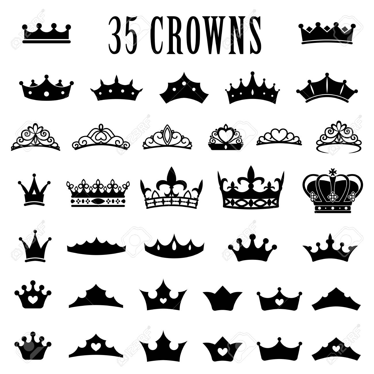 crown icons princess crown