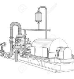 wire frame industrial pump 3d rendering vector illustration stock vector 87211928 [ 1300 x 964 Pixel ]