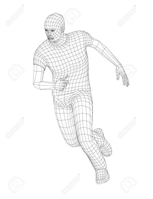 small resolution of stock photo wire frame running man