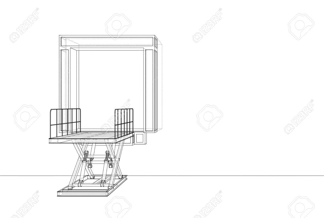 hight resolution of dock leveler schematic wiring diagram libraries truck dock levelers dock leveler concept stock photo picture