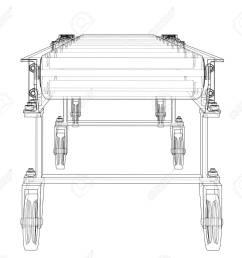 3d outline conveyor belt 3d illustration stock illustration 113052174 [ 1300 x 1167 Pixel ]