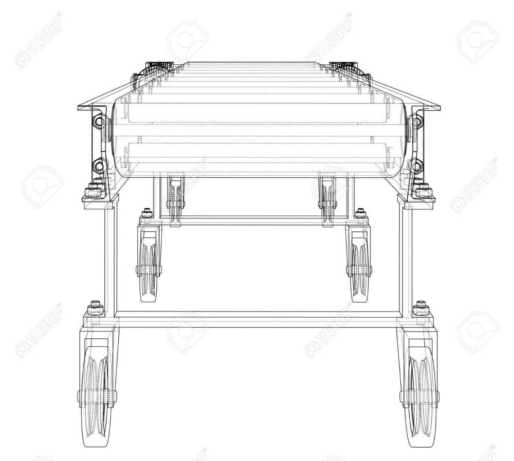 medium resolution of 3d outline conveyor belt 3d illustration stock illustration 113052174