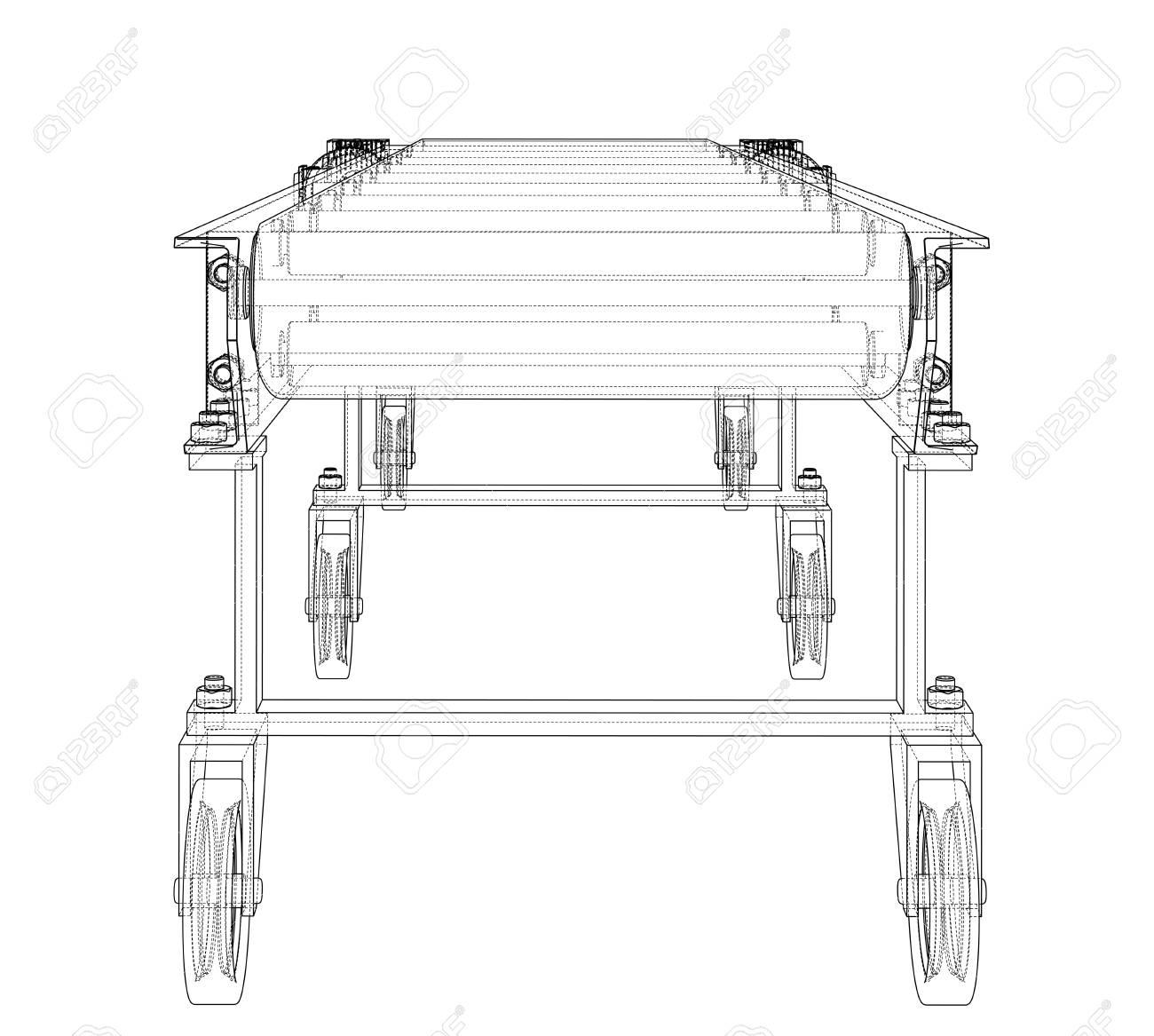 hight resolution of 3d outline conveyor belt 3d illustration stock illustration 113052174