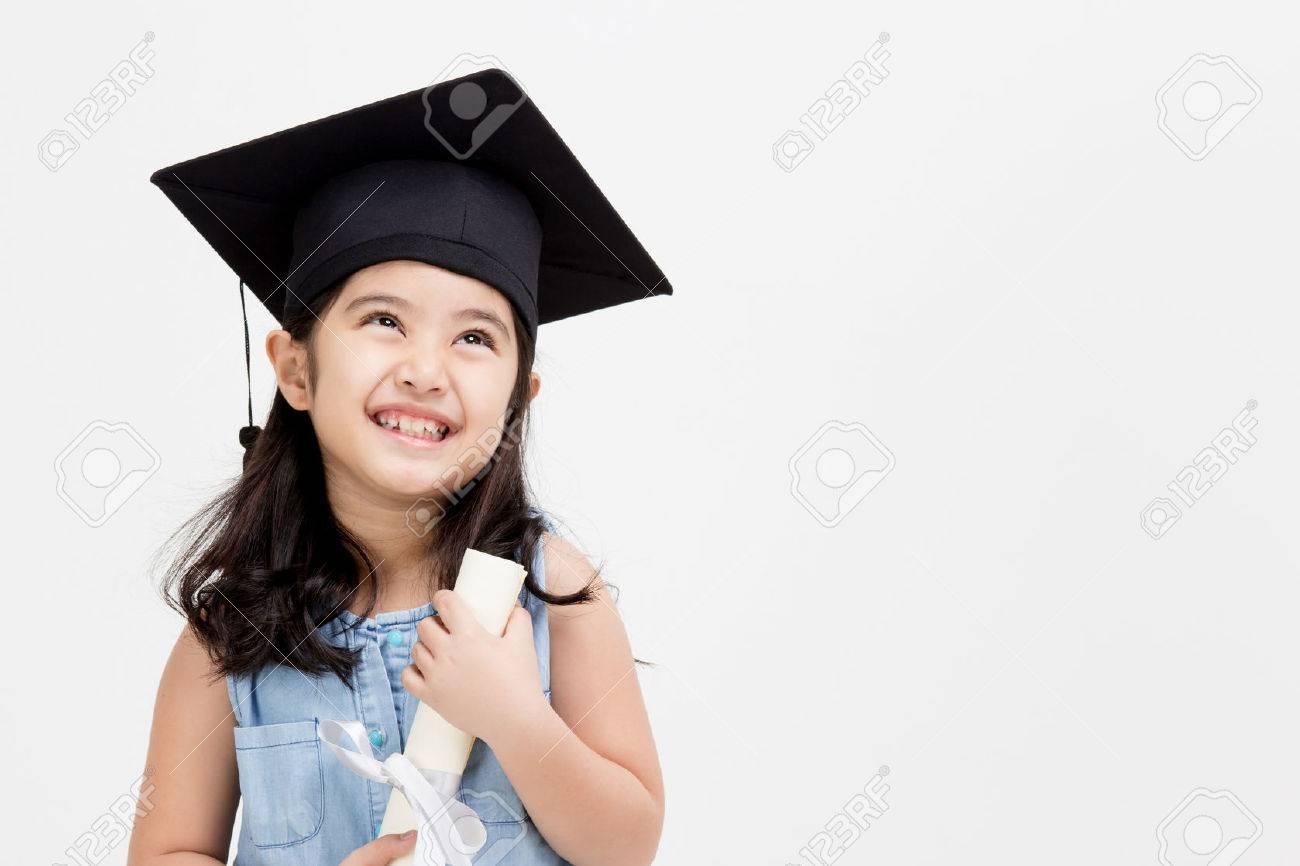 happy asian school kid