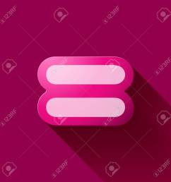 volume icons symbol equal sign colorful modern style stock vector 45032813 [ 1300 x 1300 Pixel ]