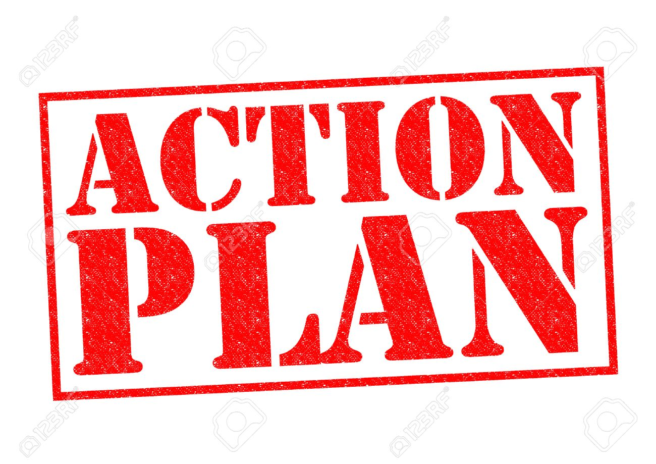 Action Plan Red Rubber Stamp Over A White Background. Stock Photo - 27416204