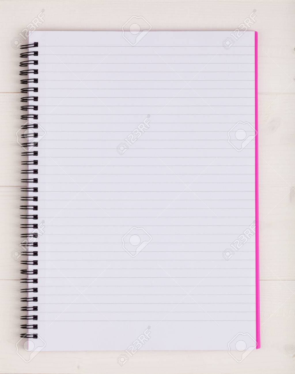 open notebook with a