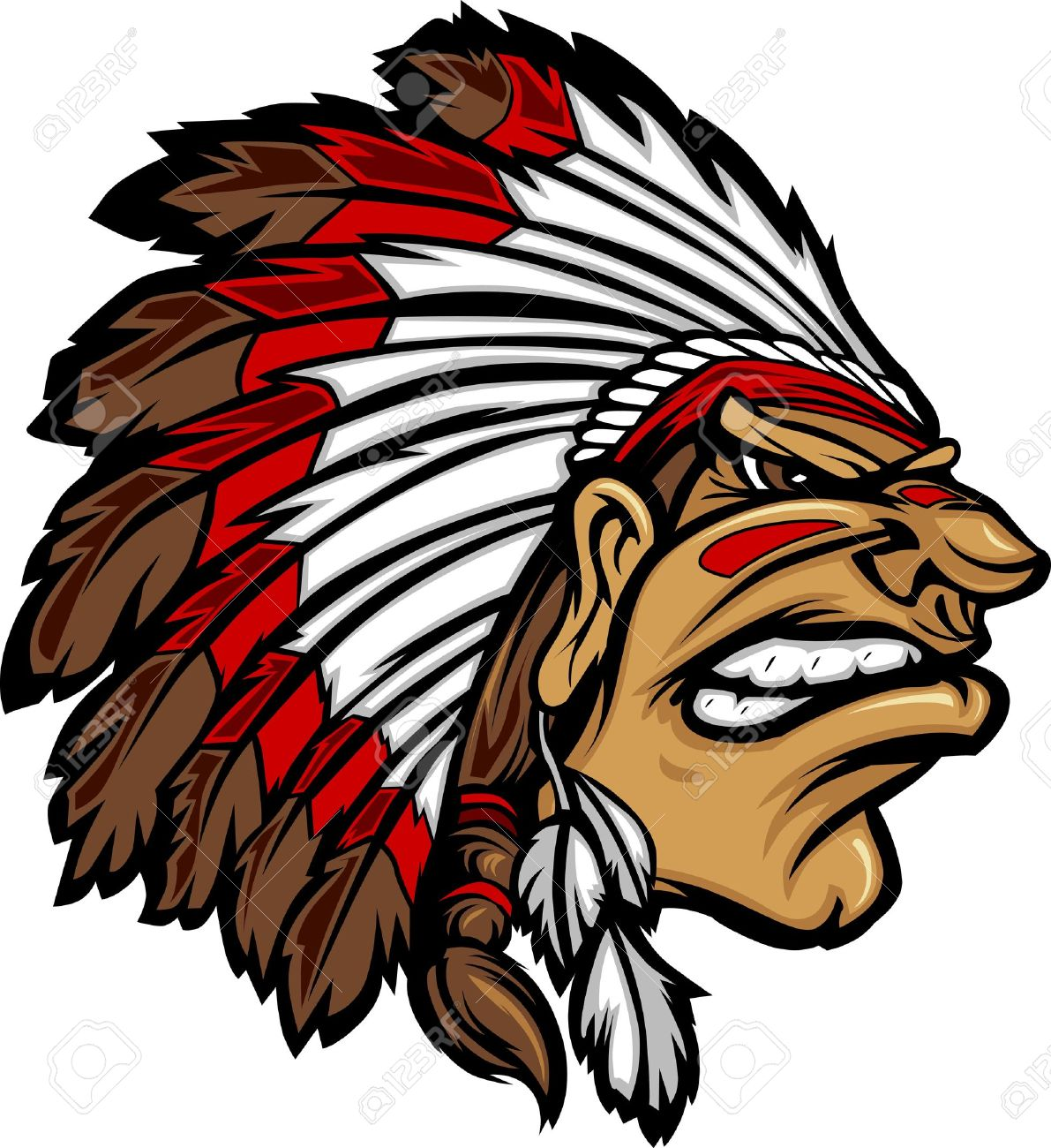 hight resolution of indian chief mascot head cartoon graphic stock vector 10641741