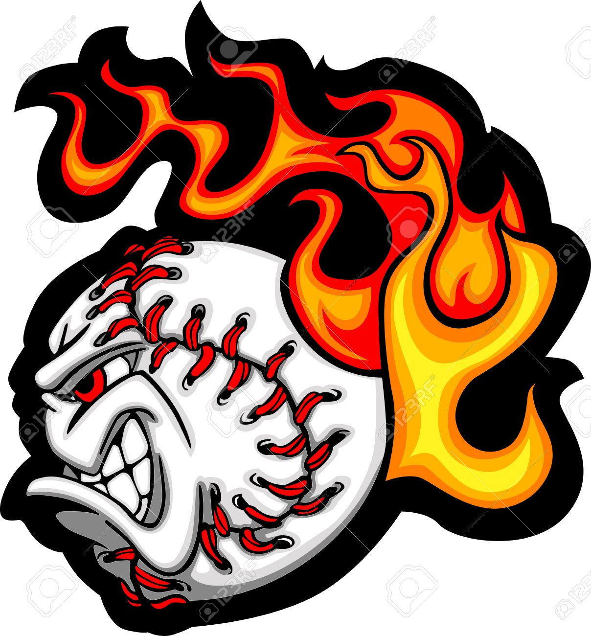 softball or baseball face