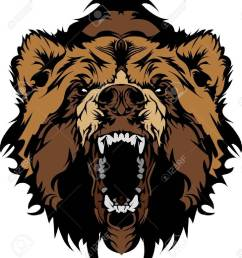 grizzly bear mascot head vector graphic stock vector 10743804 [ 1159 x 1300 Pixel ]