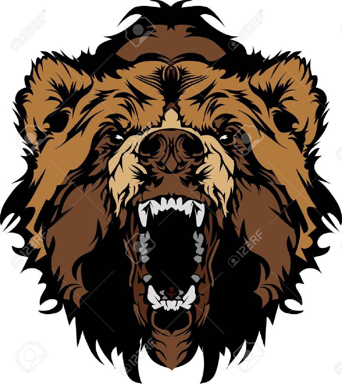 hight resolution of grizzly bear mascot head vector graphic stock vector 10743804
