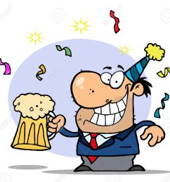 drunk new years man holding beer stock vector 6792819 [ 1300 x 1216 Pixel ]