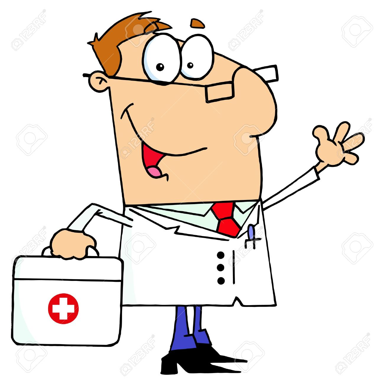 hight resolution of doctor man carrying his first aid bag stock vector 6905948