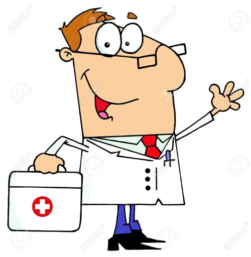 small resolution of doctor man carrying his first aid bag stock vector 6905948