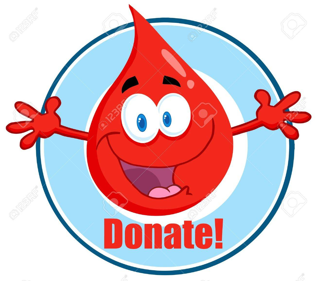 hight resolution of blood guy asking you to donate stock vector 12352837