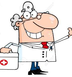 smiling and waving male doctor with a first aid kit stock vector 12353051 [ 1300 x 1059 Pixel ]